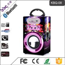 10W 1200mAh Portable Karaoke bluetooth Beat Box Speakers with FM Radio
