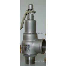 Válvula de seguridad de elevación completa tipo Kunkle roscada de latón / bronce / acero inoxidable (A28H)