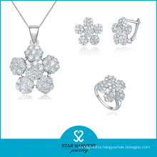 1PC MOQ Spark 925 Sterling Silver Jewelry Set with CZ (J-0109)
