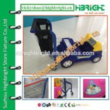 newly developed children shopping cart for renting with Ipad screen