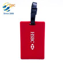 Kundenspezifische Form-Standardgrößen-Reise-weiche Pvc-Gepäckanhänger mit Plastikschnalle