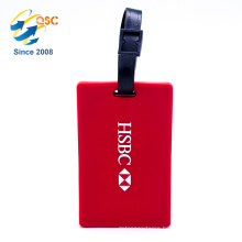 Custom Shape Standard Size Travel Soft Pvc Luggage Tags With Plastic Buckle