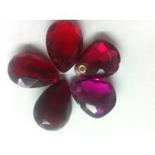 Pedras de cristal fantasia com um buraco para pingente de jóias