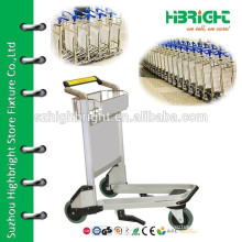 high strength aluminum alloy airport luggage trolley cart for sale