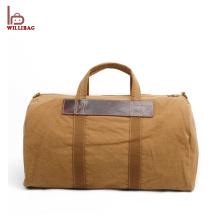 Mala de viagem de homens mochila de couro dobrável personalizado saco de Duffle