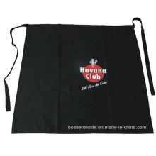 OEM Produce logotipo personalizado impreso algodón negro promocional bolsillo cintura delantal