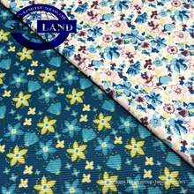 97 polyester 3 spandex knitted printed stair fabric