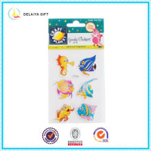 cartoon characters paper stickers with 3D eyes
