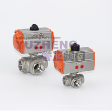 Three Way Pneumatic Ball Valve