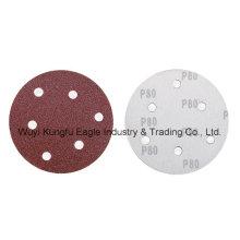 Rojo redondo gancho y bucle de lijado de disco para madera muela abrasiva