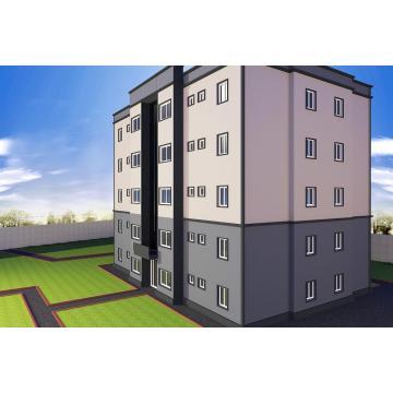 Casa prefabricada de varios pisos / Estructura de acero ligera Prefab House (JW- 16228)