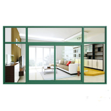 Aluminum Profile Sliding System Window with Hollow Toughened Glass (FT-W126)