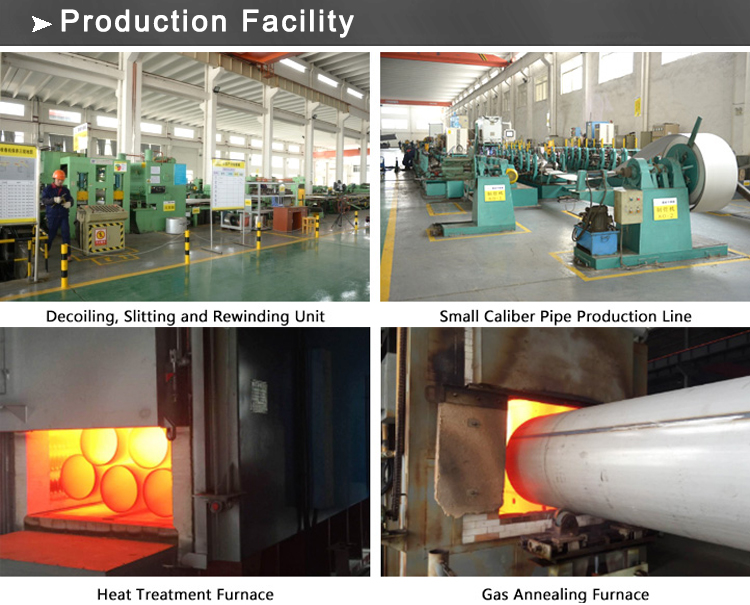 ss pipe production facility
