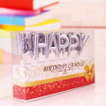 letter shape gold and sliver birthday candle