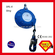 SRL-6 Fall Arresters Aluminum Swivel Hook 6M Self Retracting Lifeline