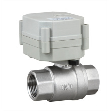 OEM 2 Way NSF Stainless Steel Motorized Water Ball Valve Electric Control Valve (T20-S2-C)