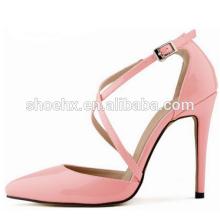 2016 Новый розовый женщин насосы обувь сексуальные крест ремни женская обувь, красивые тонкие каблуки острым носом женская обувь 2016 Новый розовый женщин насосы обувь сексуальные крест ремни женская обувь, красивые тонкие каблуки острым носом женская обу