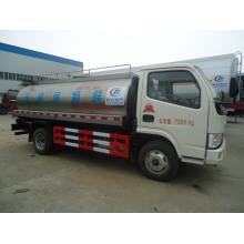 Camion de transport de lait frais, camion citerne à lait de 5 CBM, camion citerne à lait Dongfeng, camion citerne à lait 4X2