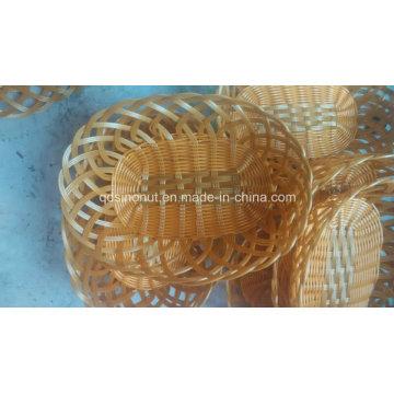 Alta qualidade Fake Rattan cesta de plástico de vime; Cesto de frutas; Cesta de pão; Cesta de comida