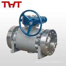 Reliable sealing fixed ball valve