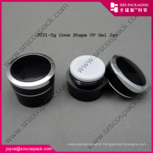 Top Quality Black Plastic Cosmetic Travel Containers