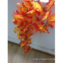 2016 Popular guirlanda de ornamento de folha de bordo de outono