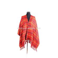 Echarpe en acrylique tribal féminin en poncho d'hiver