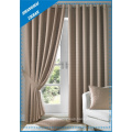 Home Decoration Blackout Cream Polyester Window Curtain