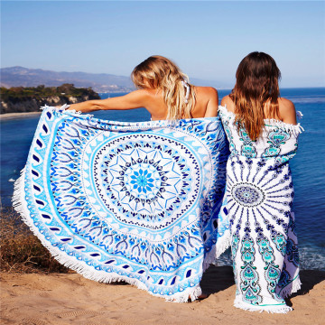 Lowest Price for Roundie Beach Towel Travel Extra Large Round Beach Towel/ Tassels Fringe supply to Guadeloupe Factory