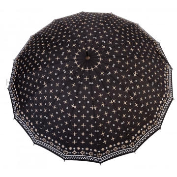 Ladies Printed 16 Ribs Manual Open Straight Umbrella