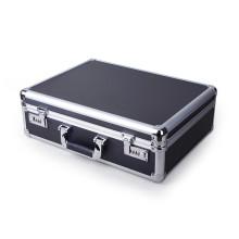 Requintado Multipurpose caixa de alumínio preto de alumínio da liga