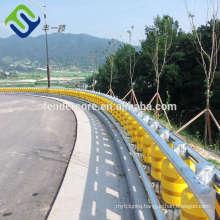 Easy install roller barrier system / safety rolling barrier / guardrails