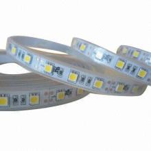 3528 СМД светодиодная лента свет 12В ДК теплый белый цвет 120 светодиодов / метр ИП67 водоустойчивый перечисленный УЛ