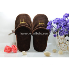 cheap soft personalized close toe chinese custom embroidered hotel slipper
