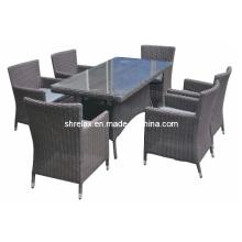 Comedor Patio conjunto muebles de mimbre de jardín al aire libre de la rota