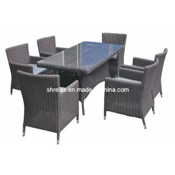 Открытый сад ротанга Wicker обеденный набор Патио мебель
