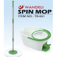 One Touch Steam Tornado Floor Spin Mop With 7.6l Bucket , Whit Pedal