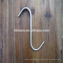 Ganchos de metal en forma de gancho en forma de gancho de acero inoxidable / gancho giratorio de acero inoxidable