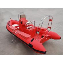Barco de resgate pesado de 5,2 m vermelho sóbrio