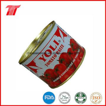 Venta al por mayor de Toamto en lata y en bolsita con la marca Yoli