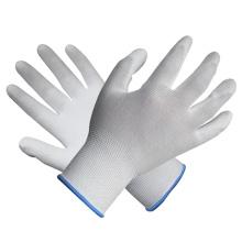 Polyester Knit Handschuh Palm Fit Weiß PU Handschuhe Beschichtete Sicherheit Arbeitshandschuh mit Ce