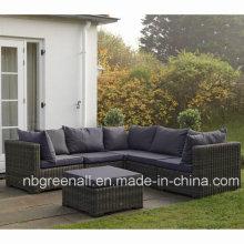 2016 Rattan moderno ao ar livre / sofá de vime Mobília do jardim do lazer