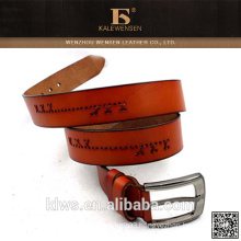 hot selling mens solid color leather belt for mens jeans