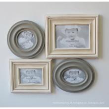 Artigos decorativos de madeira com moldura de foto