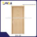 Panneau en bois blanc moderne en bois intérieur Chambre portes WPC Fabricant