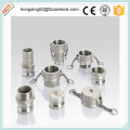 Camlock type D stainless steel 316, cam lock fitting, quick coupling
