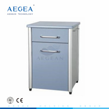 AG-BC010 ISO CE with one drawer wooden frame hospital bedside cabinet lock