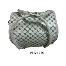 Saco cosmético do PVC couro, com 4 bandejas removíveis dentro