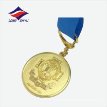 Die casted gold plating souvenir nice metal medal manufacturer