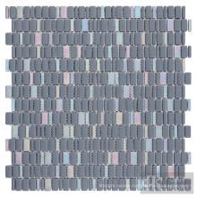 Mixed Iridescent Glass Mosaic Tiles Blue